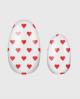 Selbstklebende Nagelfolie, transparentes Design, rote Herzen
