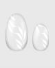 Selbstklebende Nagelfolie, transparentes Design, Blumenmuster weiß
