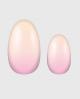 Selbstklebende Nagelfolie, Ombre Design, rosa gelb