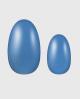 Selbstklebende Nagelfolie, einfarbig blau