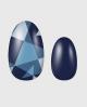 Selbstklebende Nagelfolie, gemustert blau