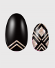 Selbstklebende Nagelfolie, metallic Design schwarz