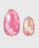 Selbstklebende Nagelfolie, Libellen, rosa braun