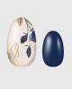 Selbstklebende Nagelfolie, Blumenmuster, blaue Uni Folie