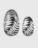 Selbstklebende Nagelfolie, metallic Design, schwarz silber, Blätter