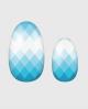 Selbstklebende Nagelfolie, gemustertes Design,  blau weiß