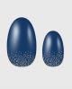 Selbstklebende Nagelfolie, einfarbiges Design, Glitzer, blau