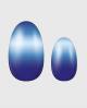 Selbstklebende Nagelfolie, blaues Ombre Design