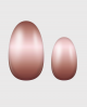 Selbstklebende Nagelfolie, Ombre Design braun