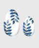 Selbstklebende Nagelfolie, transparentes Design, Blumenmuster, metallic Effekt