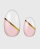 Selbstklebende Nagelfolie, goldener Streifen, rosa und weiß