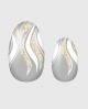 Selbstklebende Nagelfolie, transparentes Design, Glitzer