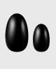 Selbstklebende Nagelfolie, schwarze Farbe