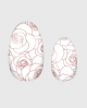 Selbstklebende Nagelfolie, transparentes Design, Rosenmuster