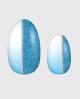 Selbstklebende Nagelfolie, Ombre Design Glitzer