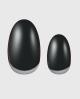 Selbstklebende Nagelfolie, schwarzes Design mit Metallic
