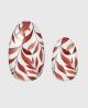 Selbstklebende Nagelfolie, transparentes Design, Blumenmuster, braun
