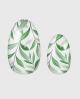 Selbstklebende Nagelfolie, transparentes Design, Blumenmuster, grün