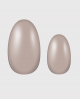 Selbstklebende Nagelfolie, einfarbiges Design, nude