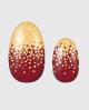 Selbstklebende Nagelfolie, glitzerndes Design auf gold