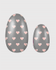 Selbstklebende Nagelfolie, transparentes Design, Holographic, Herzen