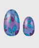 Selbstklebende Nagelfolie, glitzerndes Design, Blumenmuster