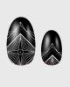 Selbstklebende Nagelfolie, gemustertes Design schwarz