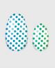 Selbstklebende Nagelfolie, transparentes Design, bunte Punkte